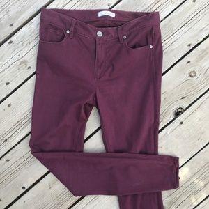 LOFT Ann Taylor Burgundy Legging Skinny Pants 6/28